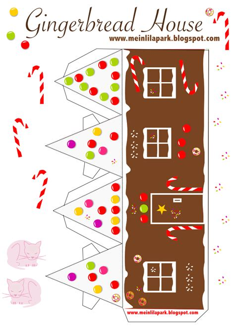 free printable diy gingerbread house no2 ausdruckbares