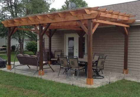 Covered Pergola Plans 12x24 Outside Patio Wood Design Wood Pergola Designs