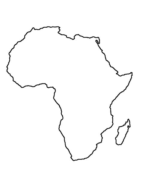 pattern tracing paper south africa africa pattern use the printable outline for crafts
