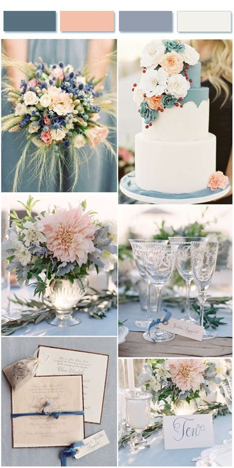 Bauernhochzeit Deko by Dusty Blue Wedding Color Combos Inspired By 2017 Pantone