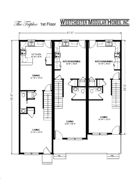 multi family modular home floor plans triplex fuller modular homes
