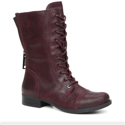 aldo shoes wine colored combat boots size 6 12 poshmark