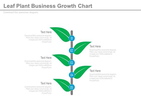 plant layout powerpoint presentation professional sales slides showing new leaf plant business