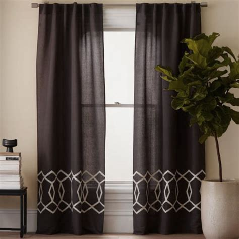 modern curtains ideas moroccan lattice print contemporary curtain panels ideas