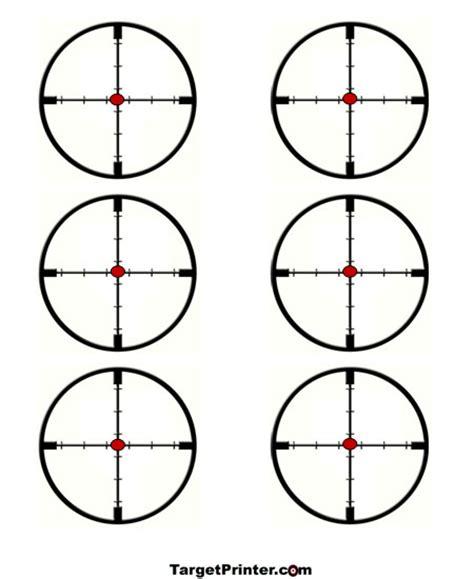 printable crosshair targets printable crosshair 6 scopes shooting target