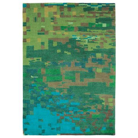 kodari rugs kodari mist rugs 34207 green blue knotted wool rugs by brink cman free uk delivery