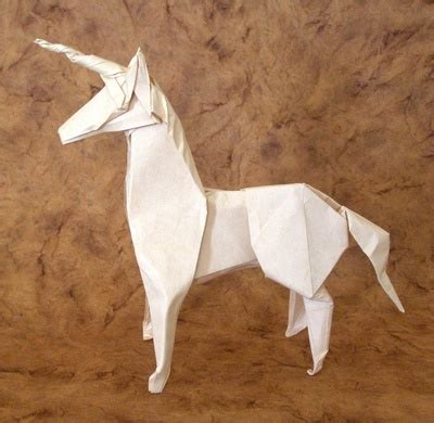 How To Make Paper Unicorn - unicorn diaz gilad s origami page