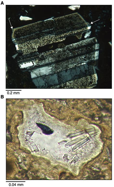 plagioclase feldspar thin section figure f21 a photomicrograph of a zoned and twinned