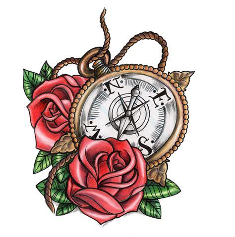tattoo old school png antique compass with old school roses 171 karen jones tattoo
