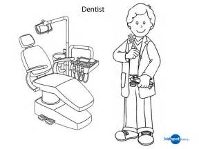 dentist coloring pages printables colouring dentist