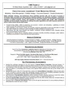 Chief Strategist Sle Resume by Chief Marketing Officer Cmo Resume