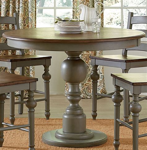 oak counter height table colonnades putty and oak counter height dining table