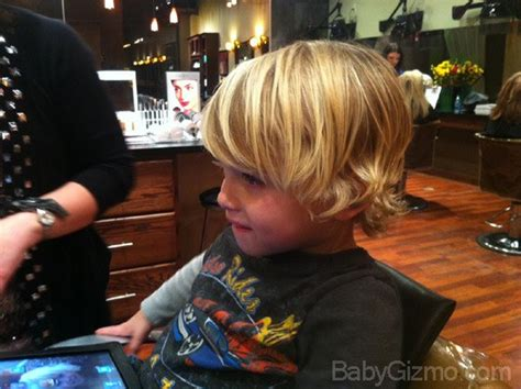 toddler hairstyles growing out bangs when the baby becomes a boy the haircut baby gizmo
