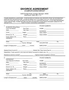 divorce agreement form michigan free download