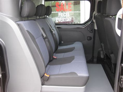 vivaro rear seats vauxhall vivaro l2 h1 doublecab sportive