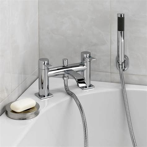 bath tap with shower enki square design basin mixer tap bath filler tap with shower pack soho ebay