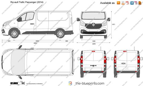 renault trafic dimensions renault trafic passenger vector drawing