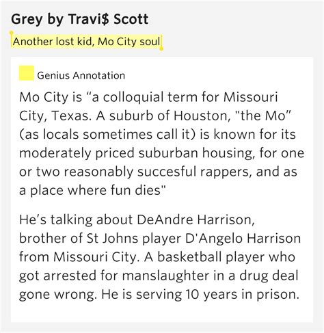 A Place Houston Lyrics Another Lost Kid Mo City Soul Grey Lyrics Meaning