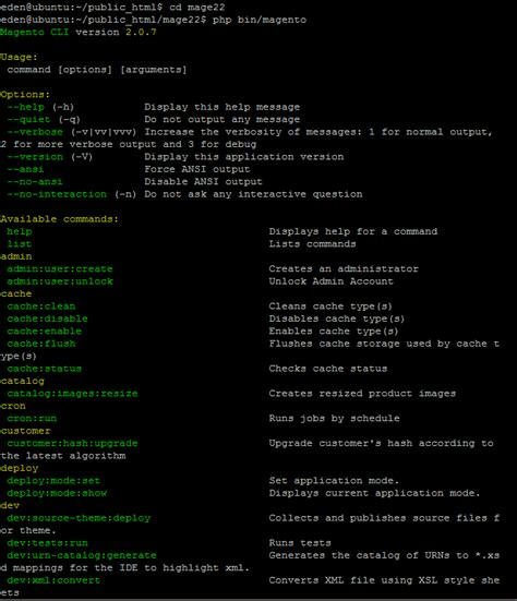 tutorial php cli how to use magento 2 command line interface cli