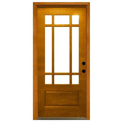 Steves Sons 32 In X 80 In Craftsman 9 Lite Stained 9 Lite Exterior Door