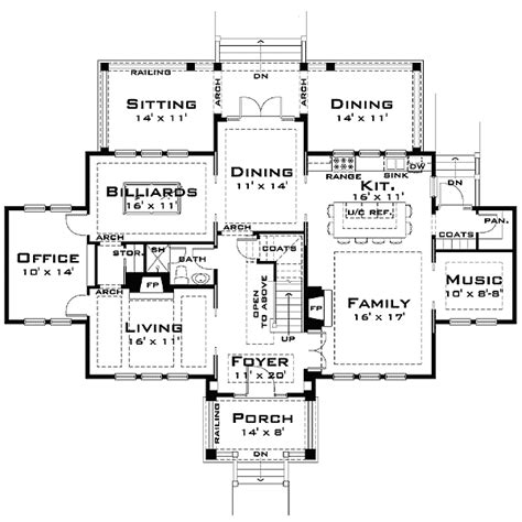 Large Colonial House Plans plan 44040td for the large family georgian house