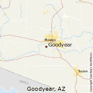Goodyear Arizona Map by Best Places To Live In Goodyear Arizona