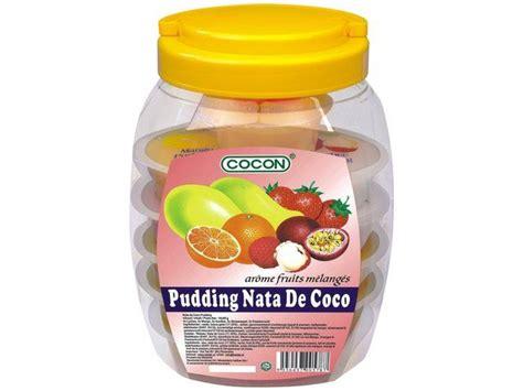 desain kemasan nata de coco cocon pudding nata de coco 1280g tjin s toko