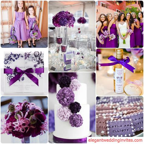 wedding color combinations top 5 color combination ideas for purple weddings