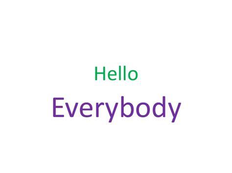 Hello Everyone My Favorite Season by Slide Show