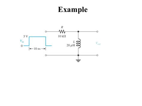 integrator circuit time constant rc and rl differentiator and integrator circuit