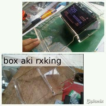 Box Aki Rx King Aksesoris Rx King Box Aki Rx King Bahan Acrylic Transparan