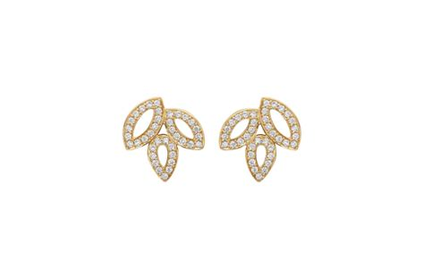 lily cluster  harry winston small diamond earrings