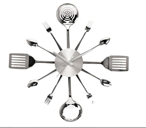 kitchen utensil wall clock by thelittleboysroom
