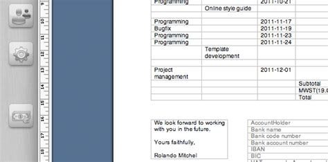Design Vorlagen Rechnungen cronsync webbasierte zeiterfassung und abrechnungso erstellen sie mit cronsync eigene word