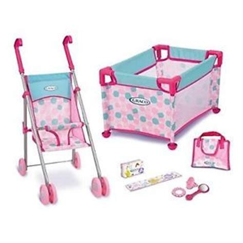 graco room of baby doll playset graco baby doll playset stroller and playpen ebay