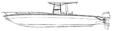 seavee boat drawing center console fishing boat drawing