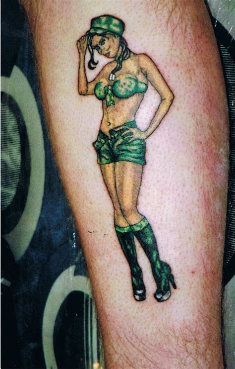 tattoo army girl army girl pin up tattoo design tattooshunt com