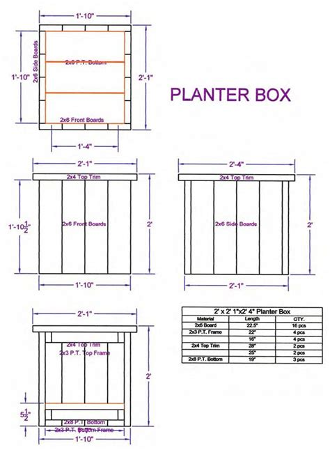 Plans For A Planter Box by Planters And Planter Boxes Diy Deck Plans