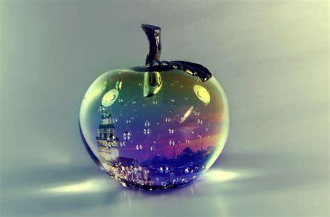 Wallpaper Apple Glass | glass apple wallpaper 2560x1440 by reset34 on deviantart