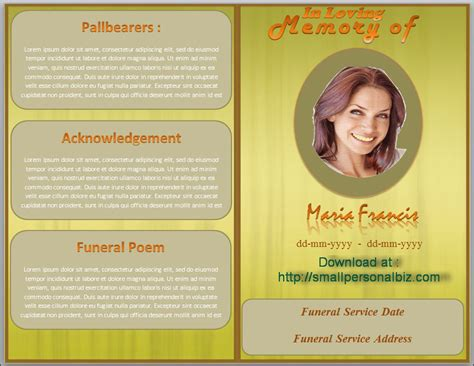 free funeral program template for word funeral program template in ms word with design