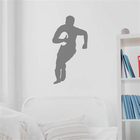 Rugby Wall Stickers rugby player silhouette wall sticker by nutmeg