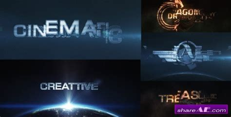 Cinematic Transform After Effects Project Videohive 187 Free After Effects Templates After Cinematic Title After Effects Template