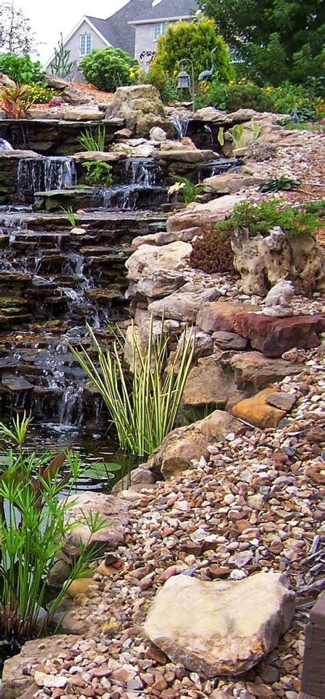 in backyard beautiful backyard waterfalls that will beckon you to look