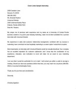 Sle Cover Letter For Students by Business Cover Letter For Internship Sle