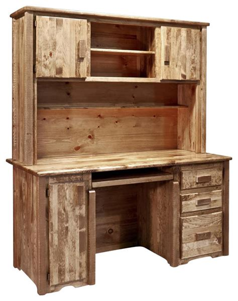 desks with hutches 63 in desk with hutch rustic desks and hutches by