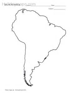 display south america outline map black and white png