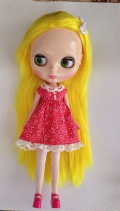 Candydoll Wig Blue Pink wig size 8 9 sd bjd shown lasher dollies and dresses
