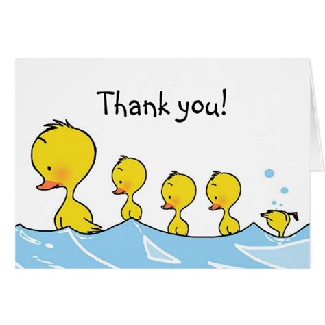 Duck Store Gift Card - simming duck family thank you note card zazzle
