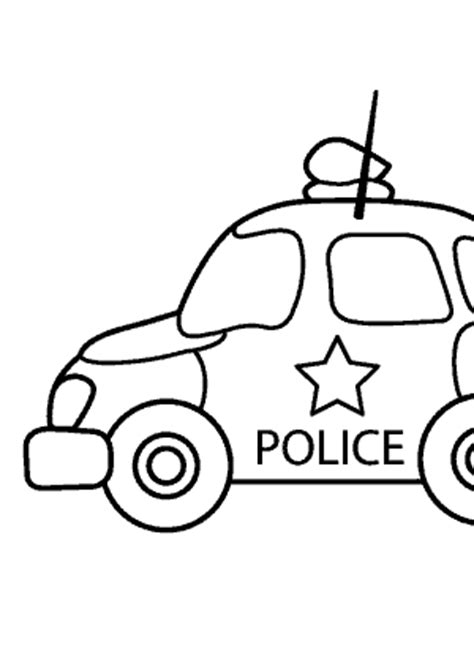 police car transportation coloring pages  kids