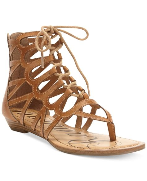 sandals gladiator rage salina faux leather gladiator sandals in brown lyst